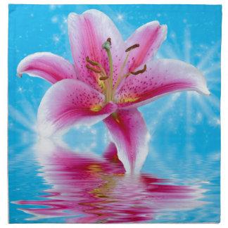 ピンクユリの輝き ナプキンクロス