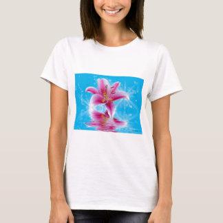 ピンクユリの輝き Tシャツ