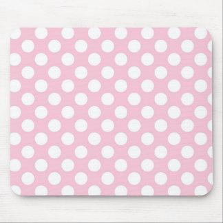 ピンクレディーコレクション-大きく白い点 マウスパッド