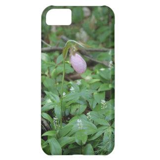 ピンクレディースリッパの花のiPhone 5の場合 iPhone5Cケース