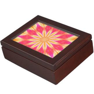 ピンクレモンユリの円形浮彫り ジュエリーボックス