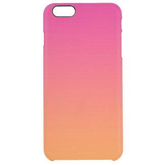 ピンク及びオレンジグラデーション クリア iPhone 6 PLUSケース