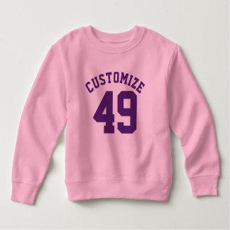 ピンク及び幼児 のスポーツのジャージーの暗い紫色のデザイン スウェットシャツ