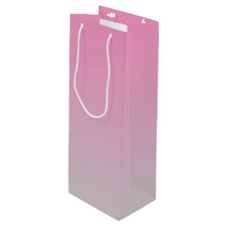 ピンク及び灰色のグラデーション ワインギフトバッグ
