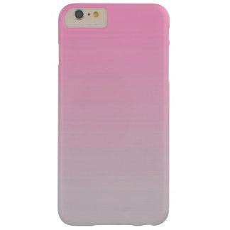 ピンク及び灰色のグラデーション BARELY THERE iPhone 6 PLUS ケース