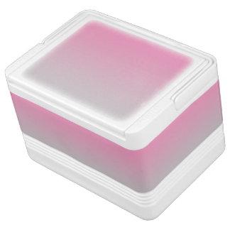 ピンク及び灰色のグラデーション IGLOOクーラーボックス