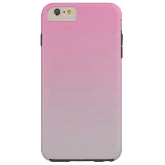 ピンク及び灰色のグラデーション TOUGH iPhone 6 PLUS ケース