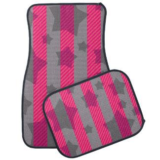 ピンク及び灰色 カーマット
