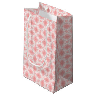 ピンク及び白いオーナメント-ギフトバッグ スモールペーパーバッグ