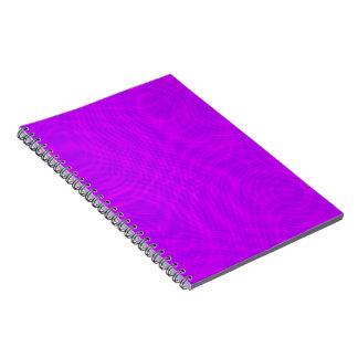 ピンク及び紫色のさざ波Moiré ノートブック
