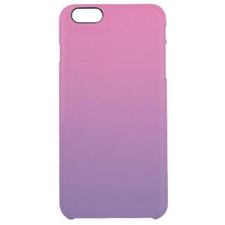 ピンク及び紫色のグラデーション クリア iPhone 6 PLUSケース