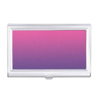 ピンク及び紫色のグラデーション 名刺入れ