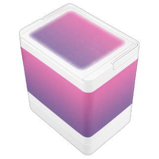 ピンク及び紫色のグラデーション IGLOOクーラーボックス
