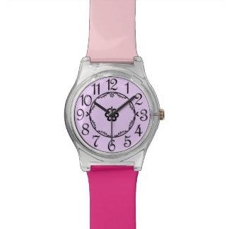 ピンク及び紫色のラズベリーのSherbertの腕時計 腕時計