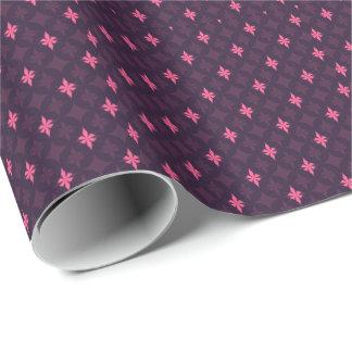 ピンク及び紫色のロックスター-花盛りのダイヤモンド ラッピングペーパー