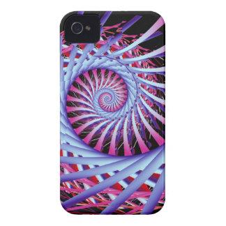 ピンク及び紫色の光学効果の螺線形 Case-Mate iPhone 4 ケース