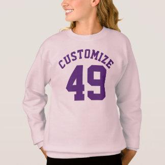 ピンク及び紫色の子供 のスポーツのジャージーの暗いデザイン スウェットシャツ