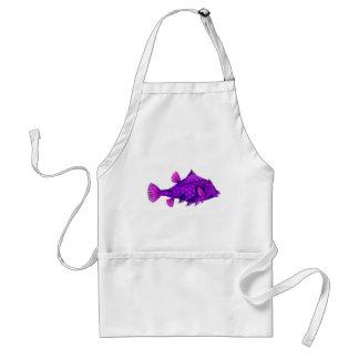 ピンク及び紫色のHumpback Turretfish スタンダードエプロン