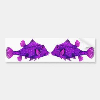 ピンク及び紫色のHumpback Turretfish バンパーステッカー