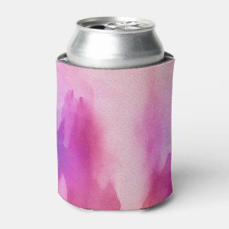 ピンク及び紫色水色の前向きな宇宙 缶クーラー