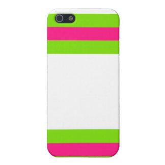 ピンク及び緑 iPhone 5 ケース