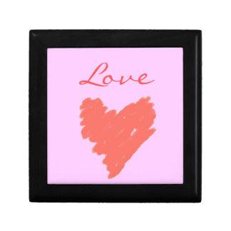 ピンク及び赤い愛ハート ギフトボックス