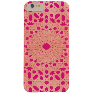 ピンク及び金ゴールドのモロッコのモザイク電話箱 BARELY THERE iPhone 6 PLUS ケース