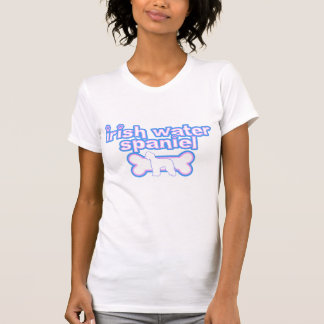 ピンク及び青いアイリッシュ・ウォーター・スパニエルのTシャツ Tシャツ