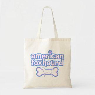 ピンク及び青いアメリカFoxhound トートバッグ