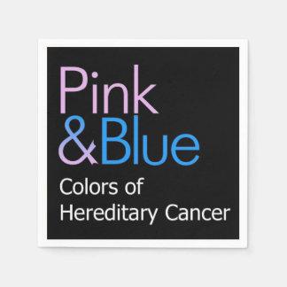 ピンク及び青いカクテルのナプキン スタンダードカクテルナプキン