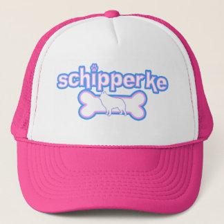 ピンク及び青いスキッパーキの帽子 キャップ