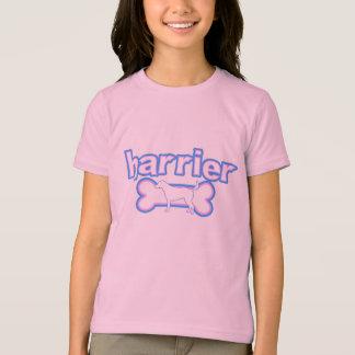ピンク及び青いハリアー Tシャツ