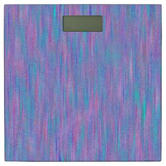 ピンク及び青い質のストライプパターン体重計 体重計