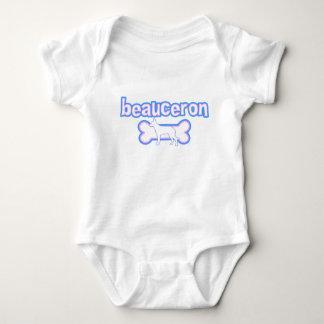 ピンク及び青いBeauceron ベビーボディスーツ
