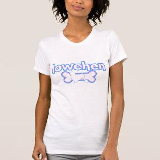 ピンク及び青いLowchenの女性Tシャツ Tシャツ
