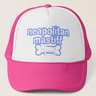 ピンク及び青いNeapolitanマスティフの帽子 キャップ