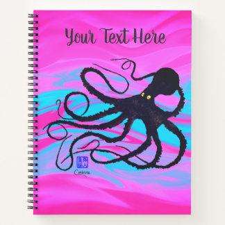 ピンク及び青ノートのタコ ノートブック
