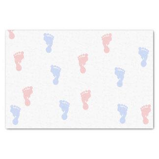 ピンク及び青色児の足跡10lbのティッシュペーパー 薄葉紙