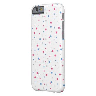 ピンク及び青iPhone6ケースに点を打ちます Barely There iPhone 6 ケース