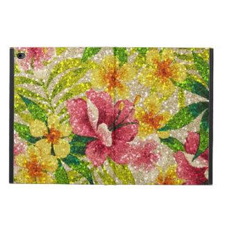 ピンク及び黄色のきらびやかな花 POWIS iPad AIR 2 ケース