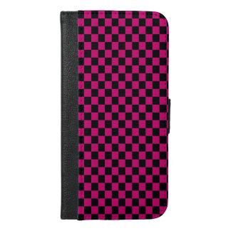 ピンク及び黒のレジ係 iPhone 6/6S PLUS ウォレットケース