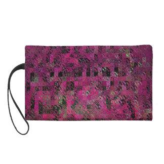 ピンク及び黒の幾何学的設計のリストレット リストレット