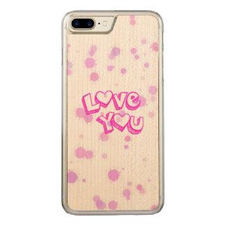 、ピンク愛して下さい CARVED iPhone 8 PLUS/7 PLUS ケース