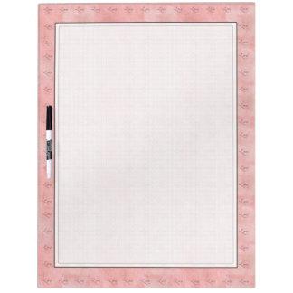 ピンク愛写実的な文字のワイプ板 ホワイトボード