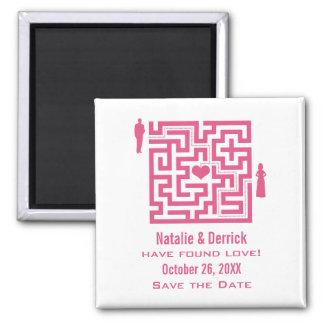 ピンク愛当惑の保存日付の磁石 マグネット