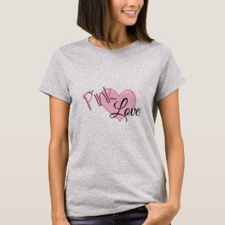 ピンク愛花型女性歌手 Tシャツ