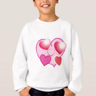 ピンク愛表現-ハート スウェットシャツ