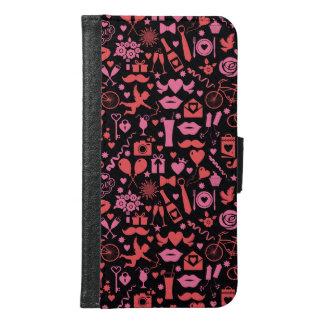ピンク愛 GALAXY S6 ウォレットケース