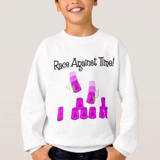 ピンク時間に対する競争 スウェットシャツ