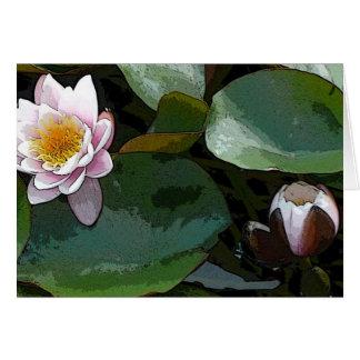 ピンク水ユリパッドの芸術 カード